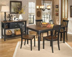 ashley furniture, dining room, table, chairs