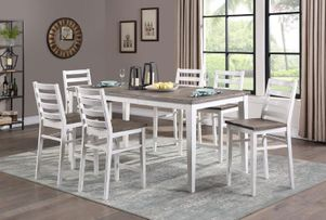 tall table and chairs, barstool, white kitchen furniture