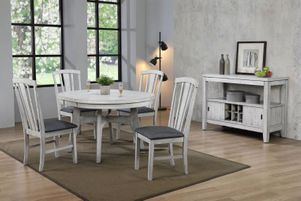 white kitchen furniture, white dining room set, table and chairs