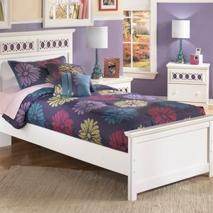 twin bed, white twin bed, girls bedroom furniture